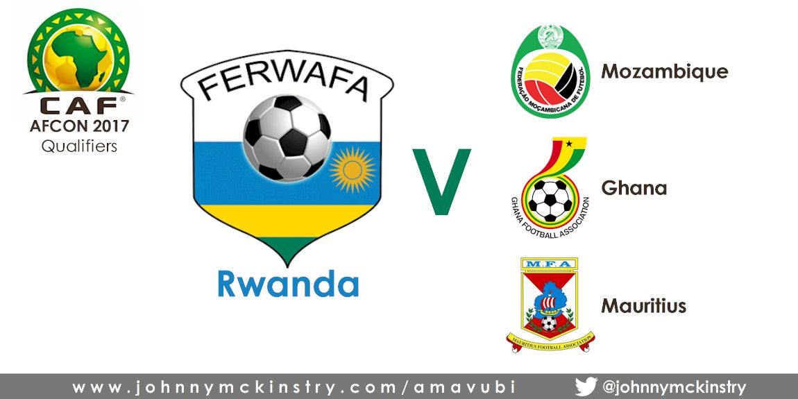 AFCON2017: Rwanda will face Ghana, Mozambique, & Mauritius in qualifiers