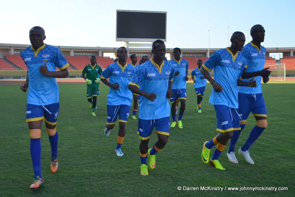 Amavubi Squad in training before Mozambique AFCON 2017 qualifier (13  June 2015)