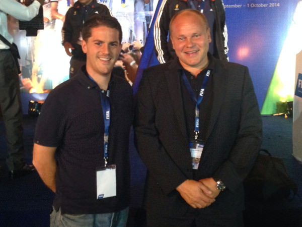 Coach McKinstry with Finnish national coach Mixu Paatelainen in Cairo