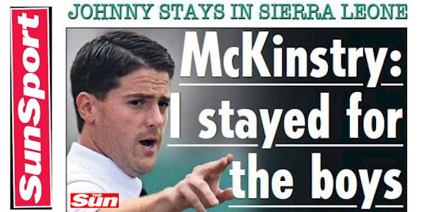 McKinstry: I stayed for the boys