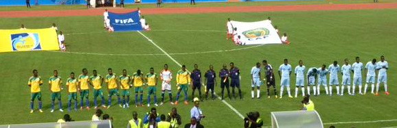Rwanda vs Somalia 250415 - Teams Line up before game
