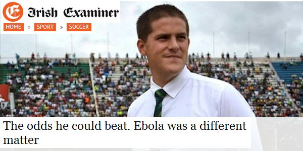 The odds he could beat.   Ebola was a different matter