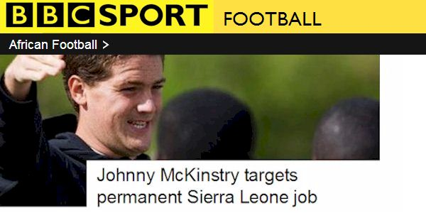 BBc Sport: Johnny McKinstry