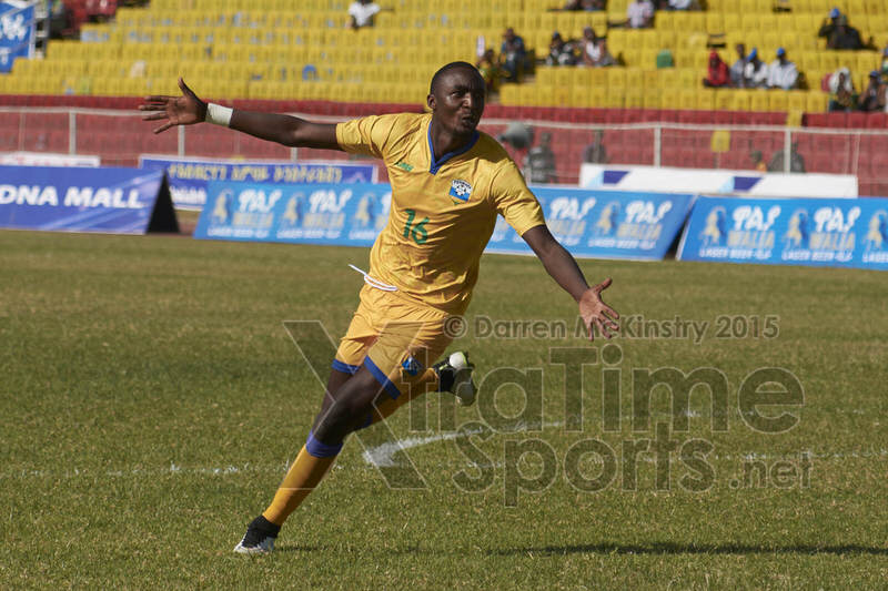 Ernest SUGIRA (16) celebrate his penalty that put the Amavubi into the final of CECAFA 2015 [Rwanda vs Sudan, CECAFA 2015, Semi final, 3 Dec 2015 in Addis Ababa, Ethiopia.  Photo © Darren McKinstry 2015, www.XtraTimeSports.net]