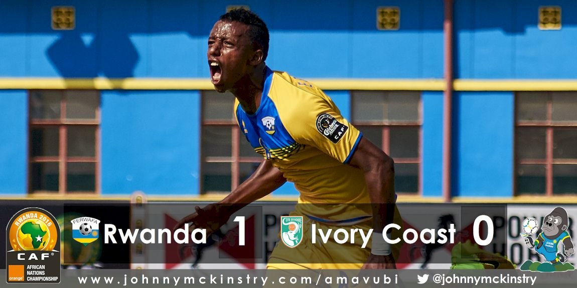 CHAN 2016: Rwanda defeat Ivory Coast 1-0 in tournament opener.