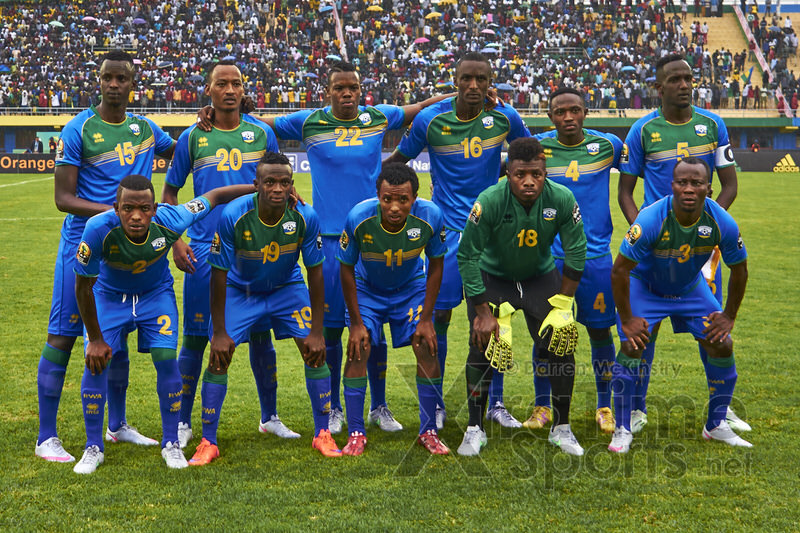 Starting Squad [Rwanda vs Morocco, CHAN - Group A, 24 Jan 2016 in Kigali, Rwanda.  Photo © Darren McKinstry 2016, www.XtraTimeSports.net]