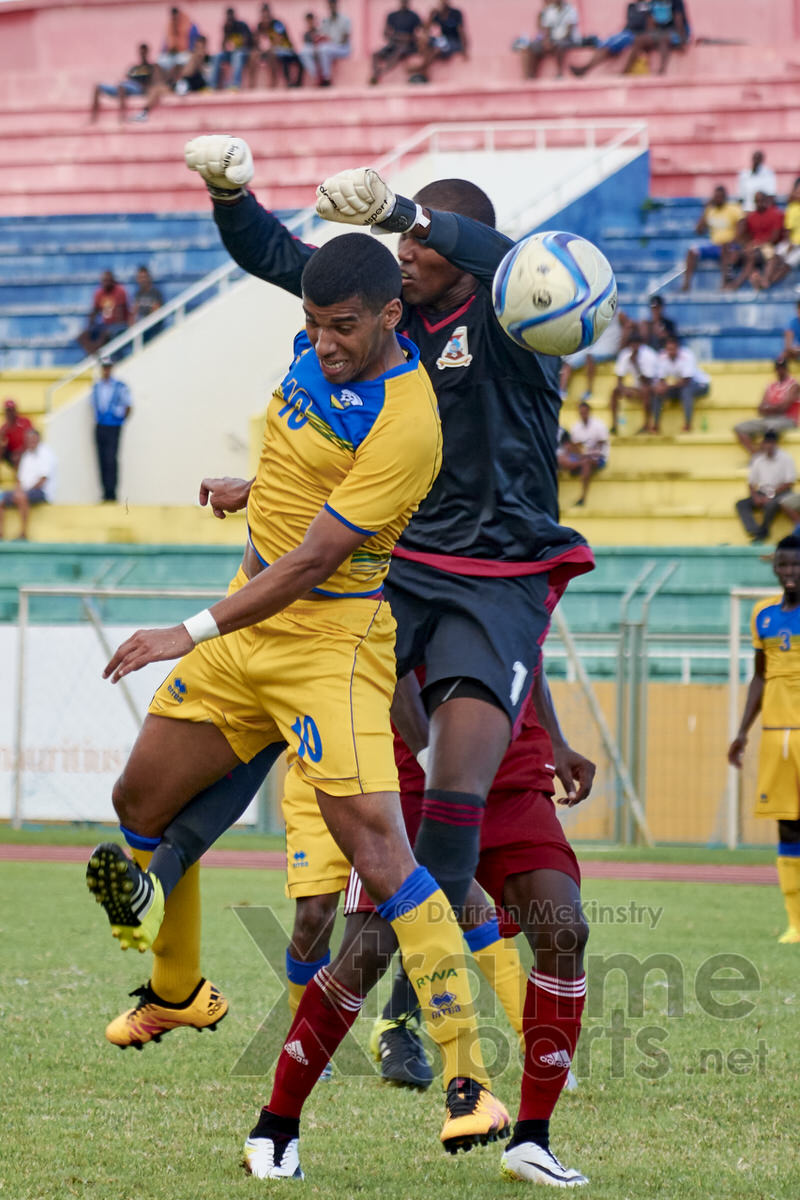 Quentin RUSHENGUZIMINEGA [Mauritius V Rwanda, AFCON 2017 Qualifier, 26 March 2016 in Mauritius.  Photo © Darren McKinstry 2016, www.XtraTimeSports.net]