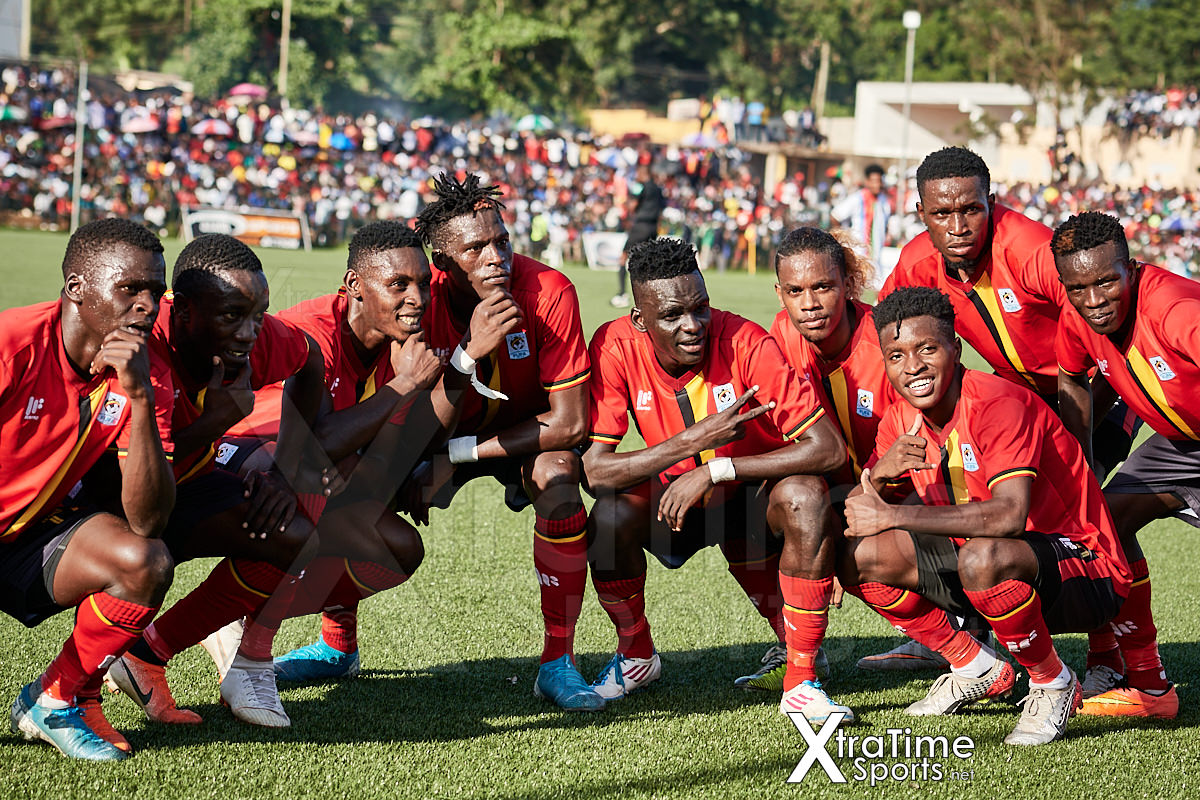 Kampala, Uganda. 19 Dec 2019.  Mustapha Kizza (12, Uganda) and team mates celebrate putting Uganda 2-0 ahead.  Uganda v Eritrea, Final, CECAFA Senior Challenge Cup 2019. Credit: XtraTimeSports (Darren McKinstry)