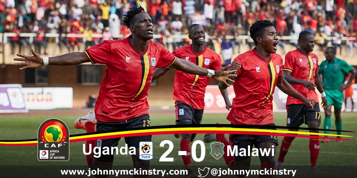 AFCON 2021: Uganda beat Malawi 2-0 in Kampala.