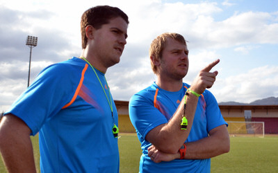 Coach McKinstry and assistant Tom Harris [Training Camp ahead of Leone Stars v Swaziland May 2014 (Pic: Darren McKinstry)]