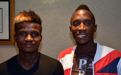 Ibrahim 'Soja' Kamara and Yeame Dunia Selected to make their international debut for the Leone Stars [Leone Stars v Swaziland May 2014 (Pic: Darren McKinstry)]
