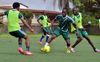 Ibrahim Kallay  [Training Camp ahead of Leone Stars v Swaziland Game on 31 May 2014 (Pic: Darren McKinstry)]